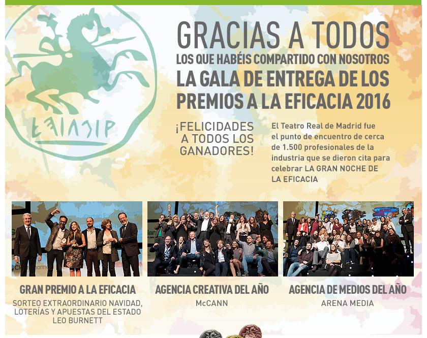 Gala de Entrega de los Premios a la Eficacia 2016