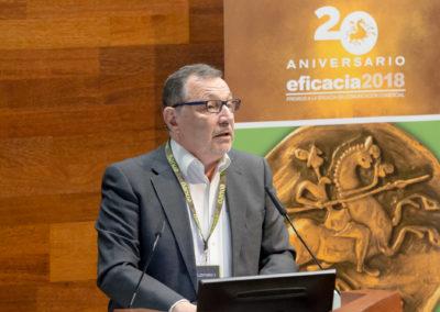José Manuel Zamorano. Presidente de la Comisión Técnica de los Premios Eficacia en la aea